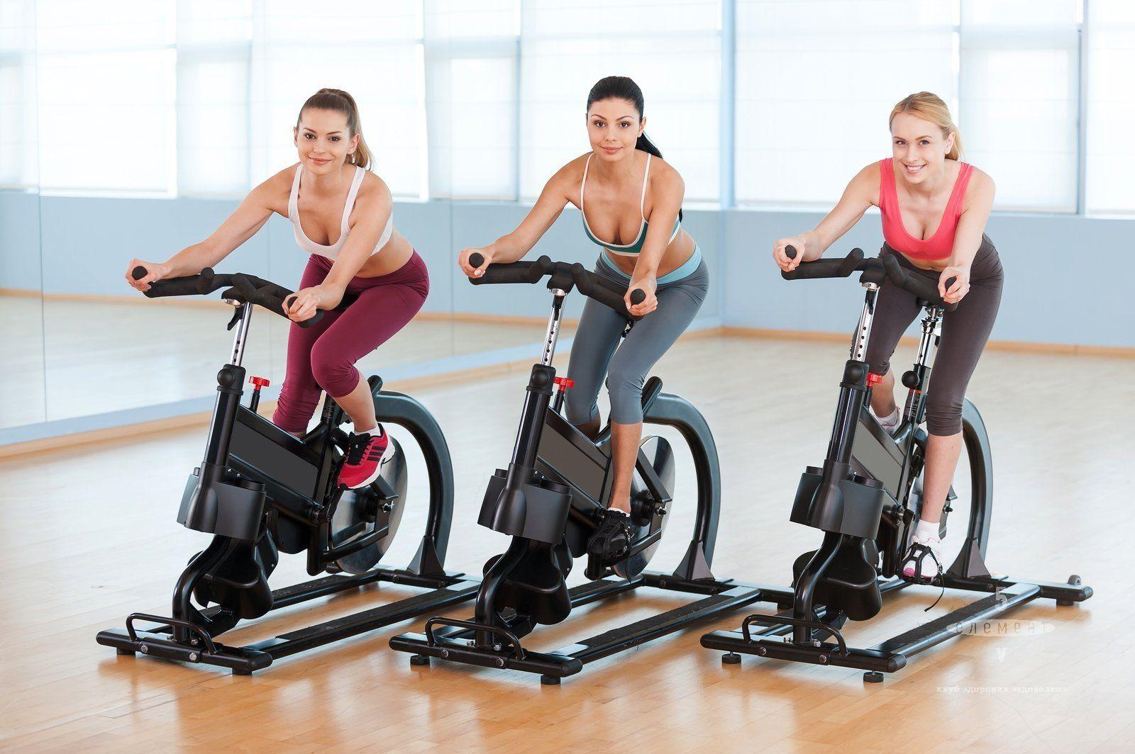 Сайкл-тренировки для похудения в фитнес-клубе 5 элемент