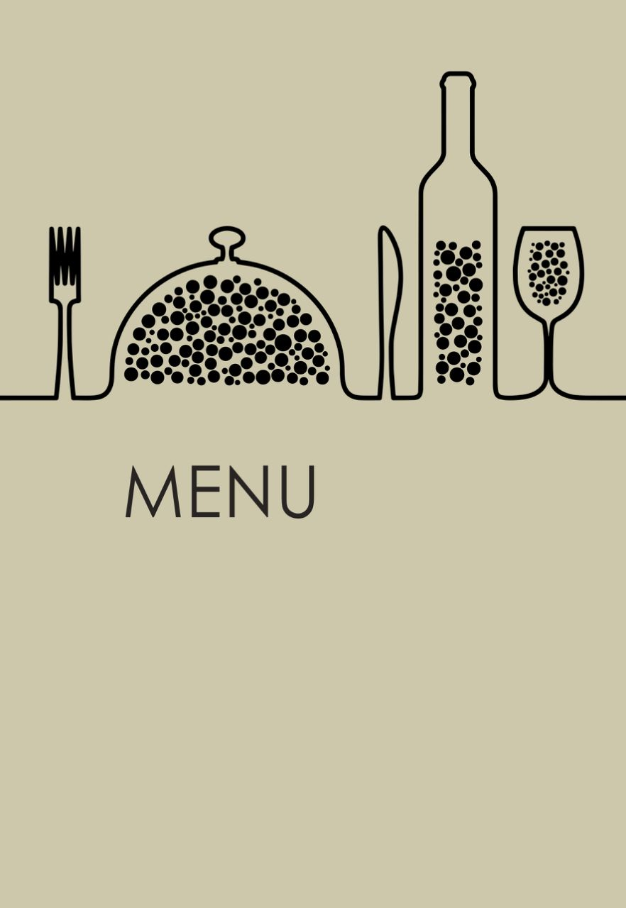 Restaurant menu. Bar