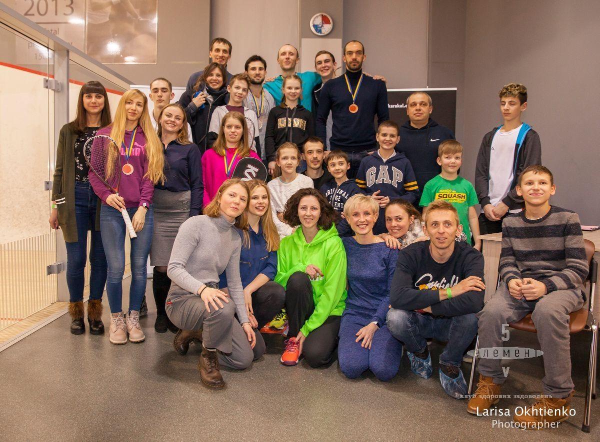 Федорук и Усенко - чемпионы Украины по сквошу 2018 — элитный семейный Фитнес-центр 5 Элемент