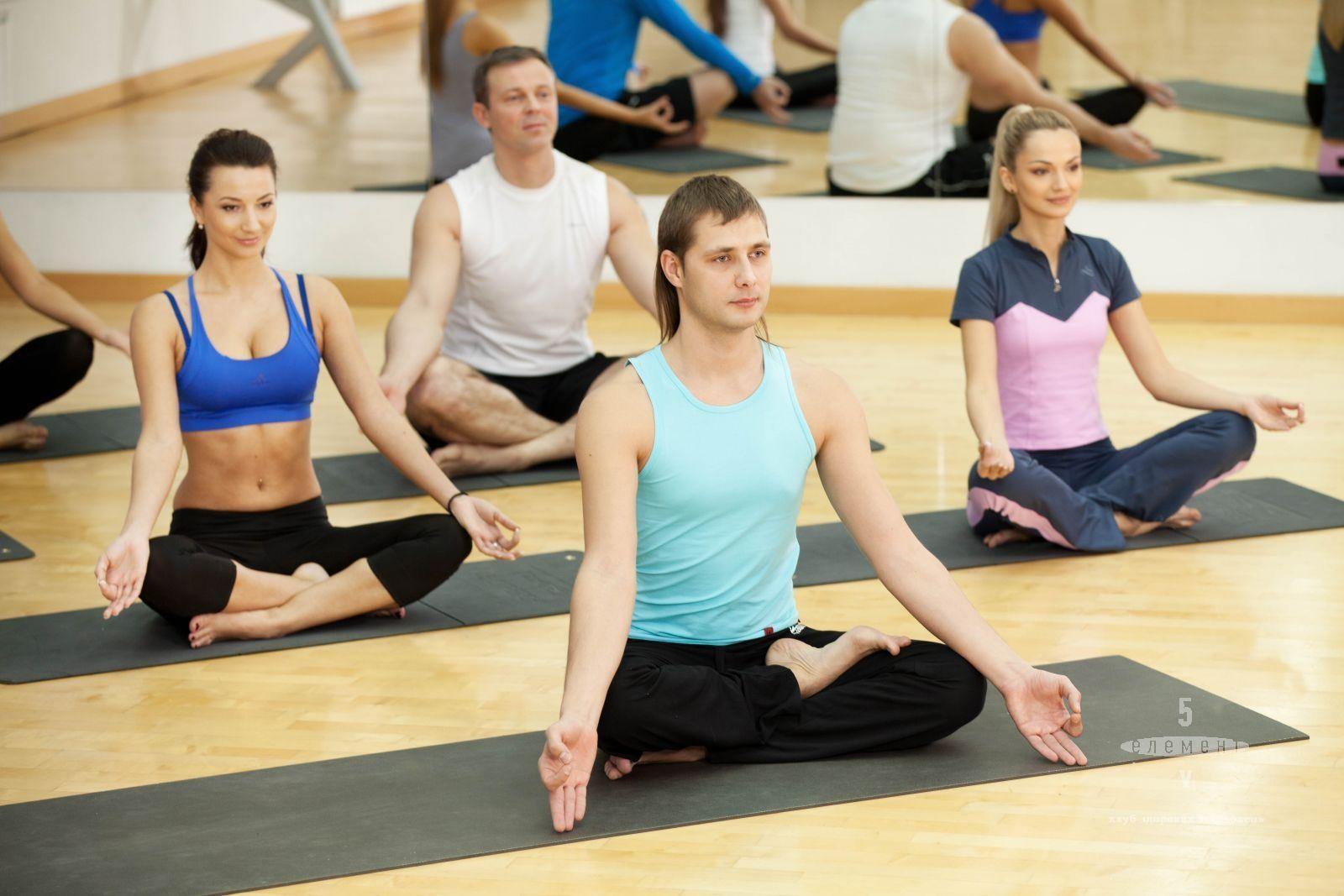 Групові заняття «пранаяма йога»— фітнес-клуб 5 елемент