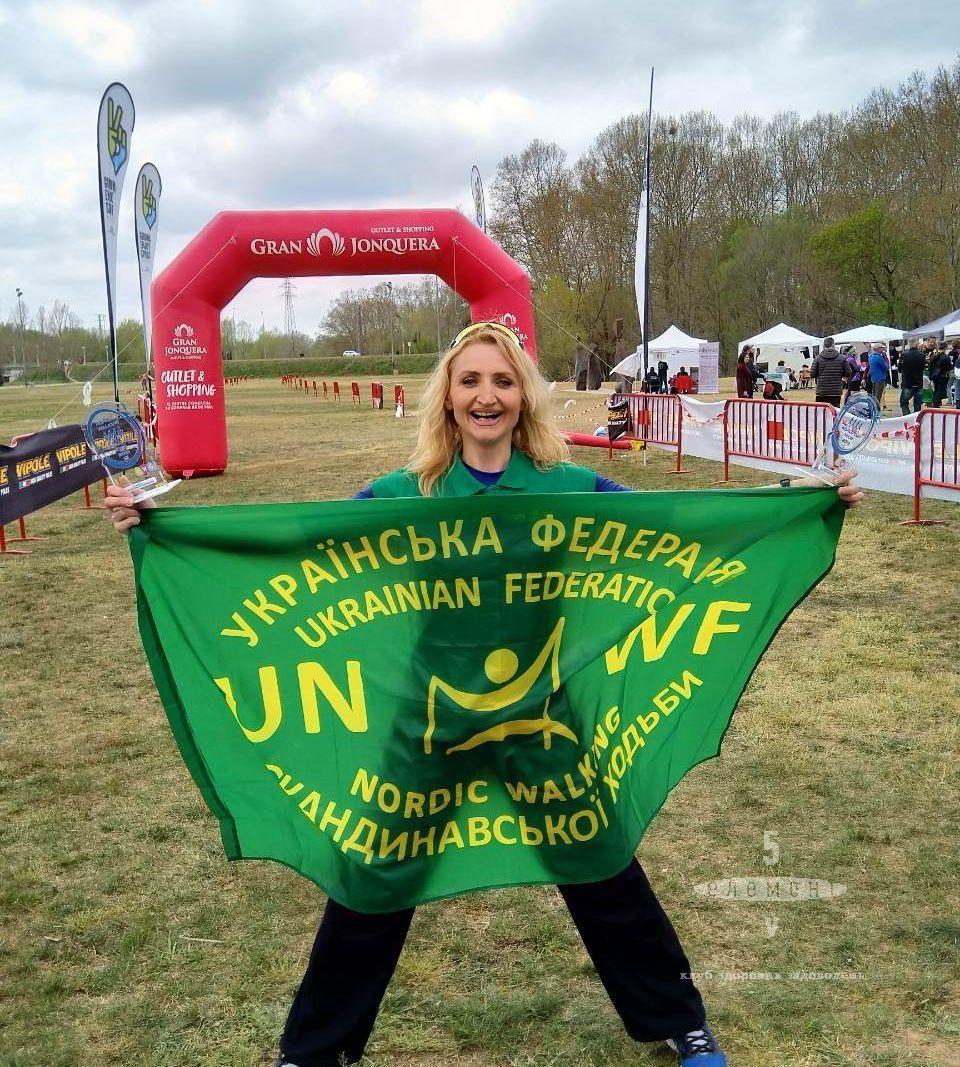 Татьяна Сироткина победитель Nordic Walking Word Cup Tour— фитнес-клуб 5 элемент