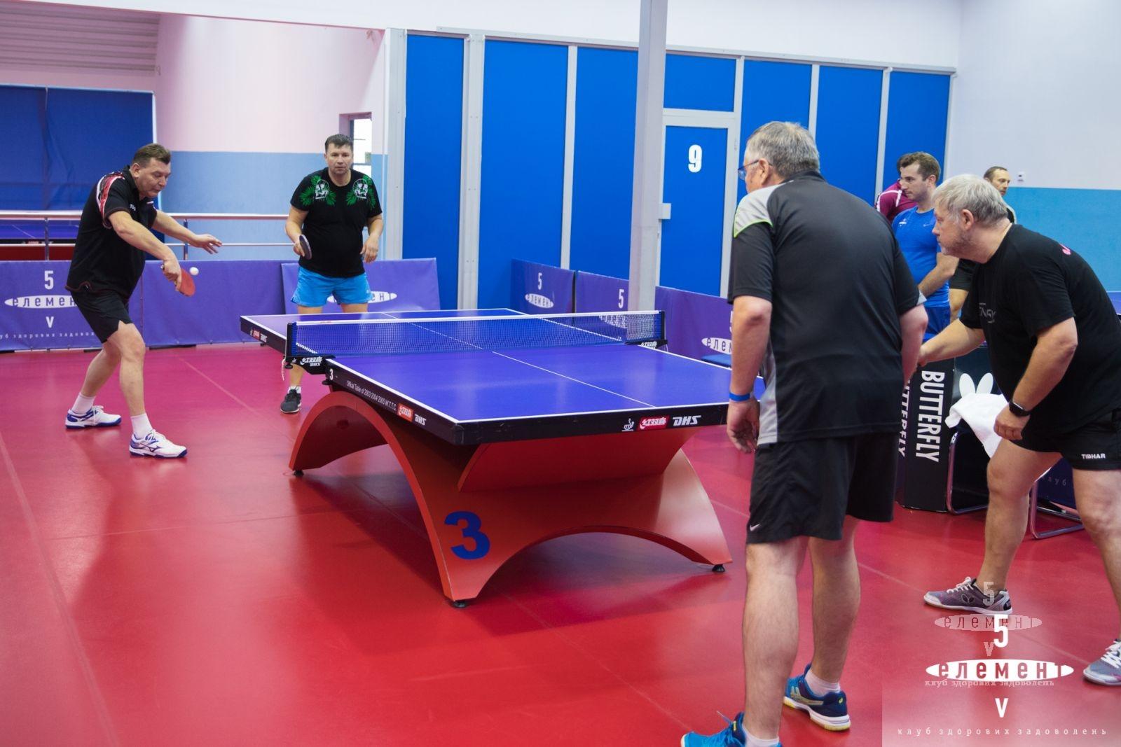 Ежегодный парный турнир по настольному теннису— фитнес-клуб 5 элемент