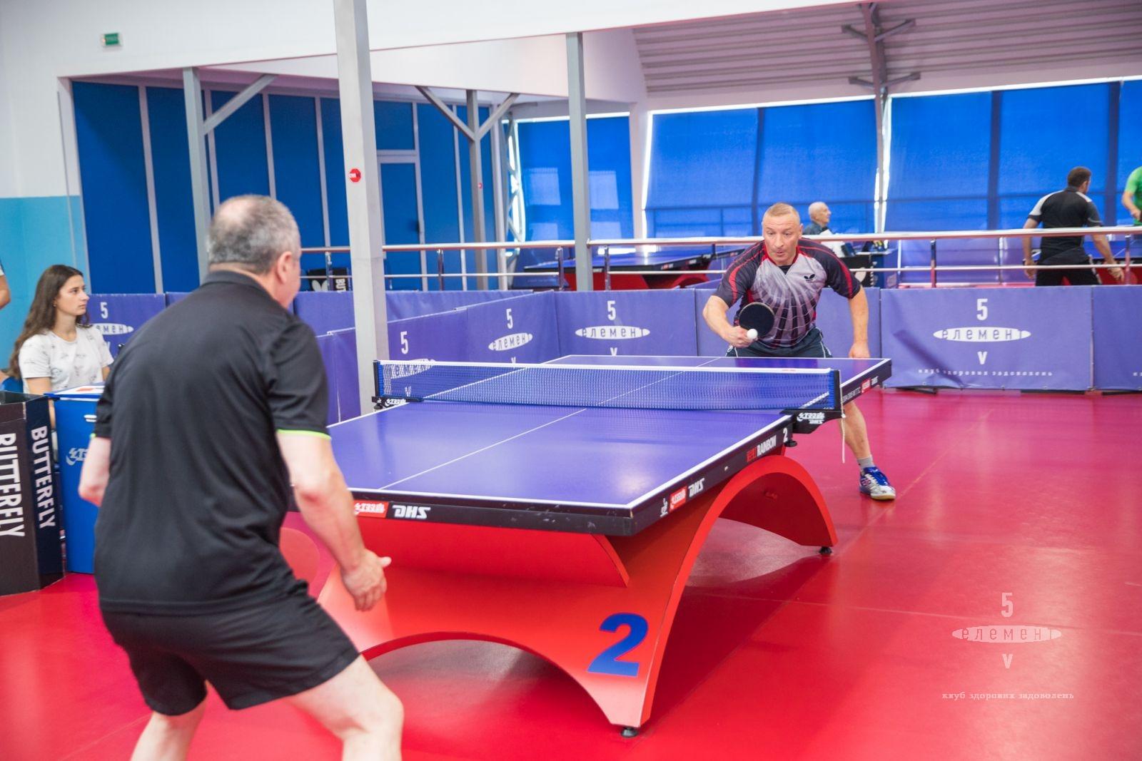 Третий тур открытого клубного чемпионата по настольному теннису— фитнес-клуб 5 элемент