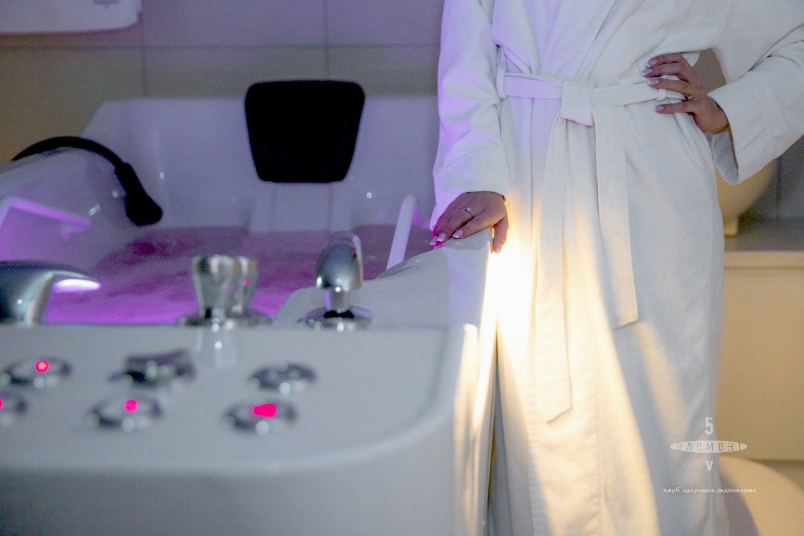 Гидромассажная ванна  - один из методов похудения и расслабления одновременно.— фитнес-клуб 5 элемент